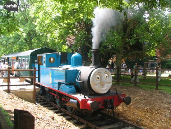 Bressingham - meet Thomas the Tank engine on Thomas day