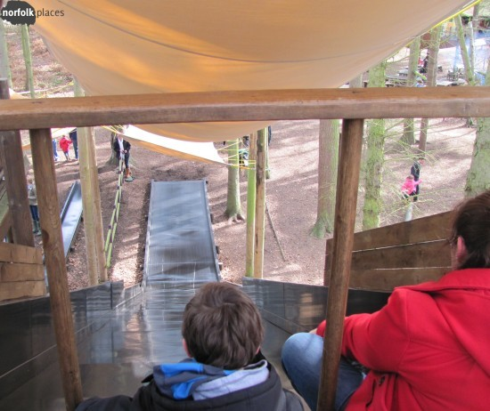 Sliding down the Slippery Slope at BeWILDerwood!