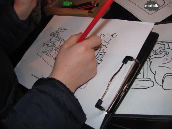 Santa Cruise - kids drawing