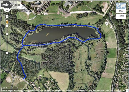 UEA lake walk -route