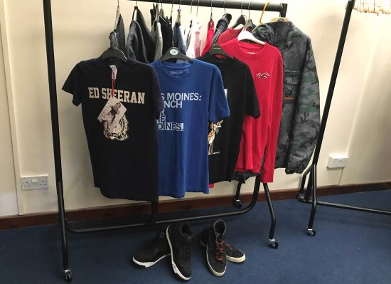 Ed Sheerans clothes for auction
