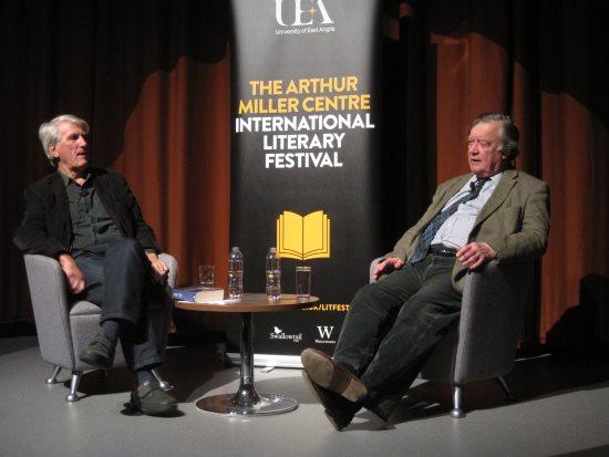 Kenneth Clarke talking to Professor Christopher Bigsby @ UEA Literary Festival