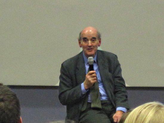 John Foster at UEA Philosophy Talk on Climate Change- credit Daniel Bardsley