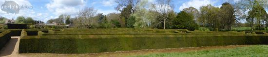Somerleyton Hall garden maze panoramic NorfolkPlaces