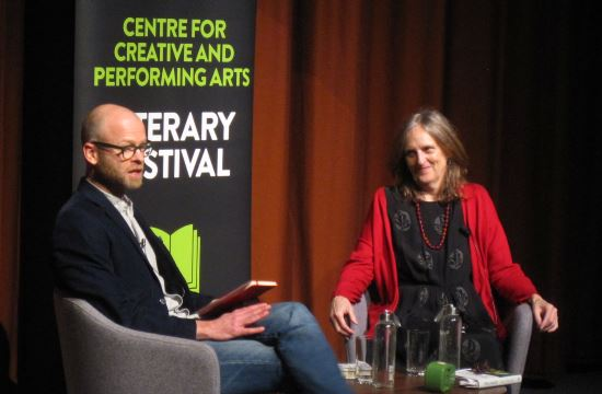 Tessa Hadley at UEA Literary Festival with Dr Philip Langeskov