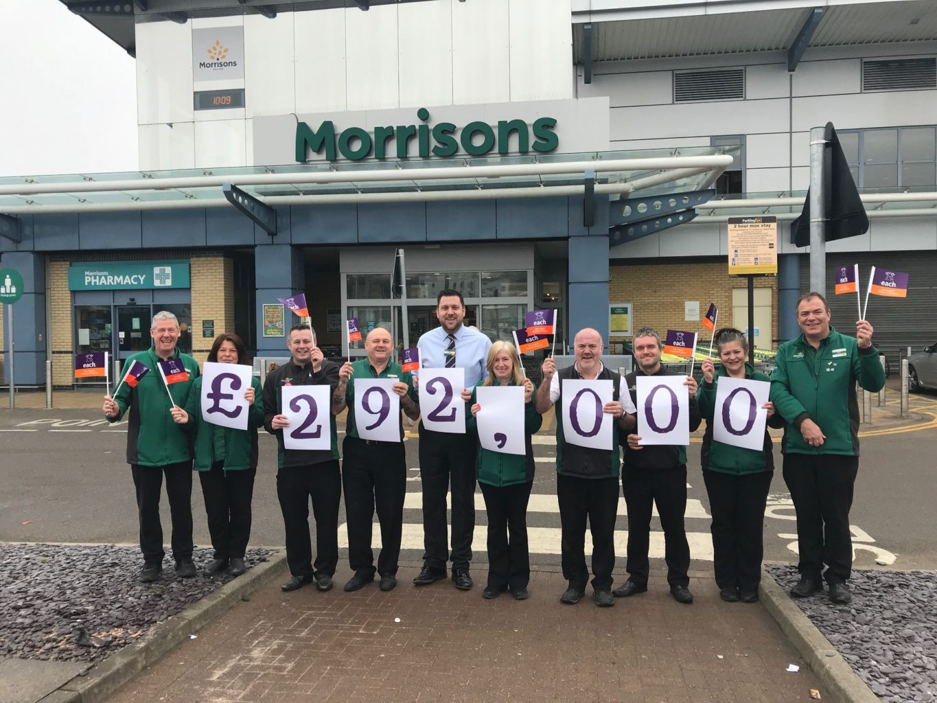 Morrisons staff fundraising for EACH