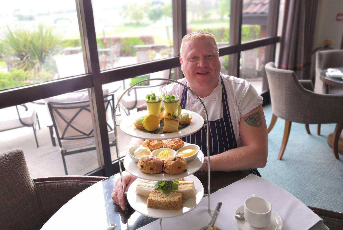 barnham broom chef with cakes