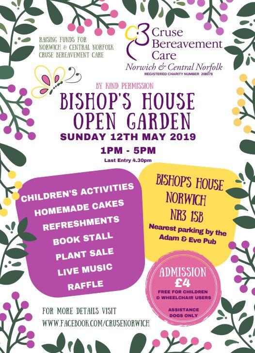Cruse open garden at Bishop's House Norwich