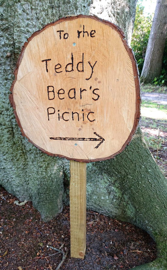 Fairhaven Garden_Teddy Bears Picnic sign - credit Paul Dickson