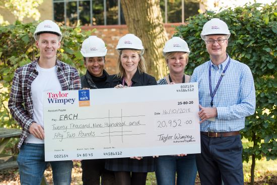 Taylor Wimpey EACH Cheque
