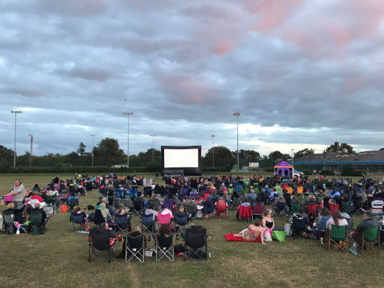 Hoveton Hall open air cinema for EACH