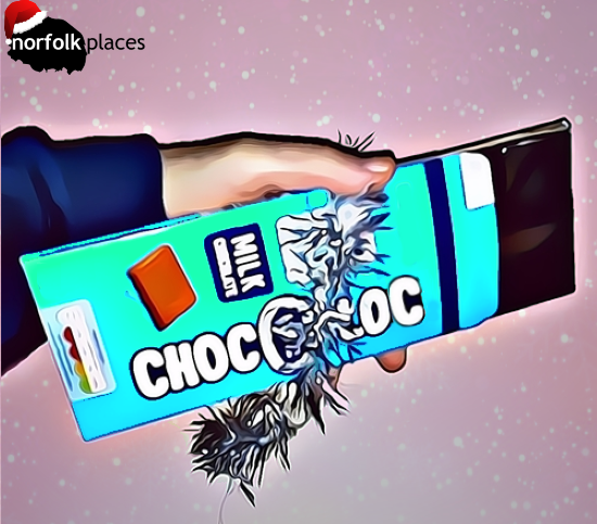 Block of Choc with card & foil package