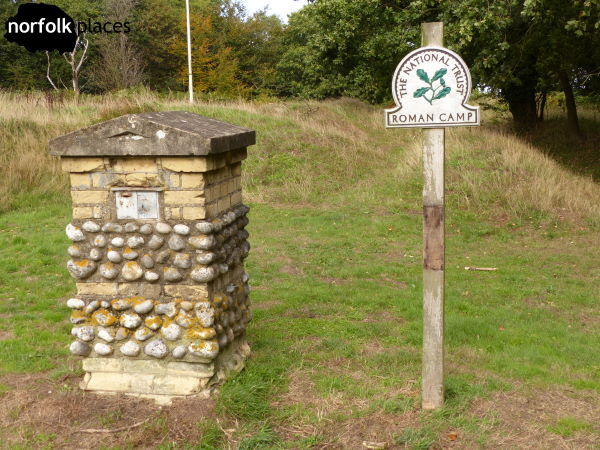 Beeston Regis Walk2 NT sign for Roman Camp