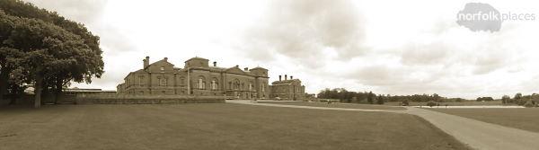 Holkham Hall - sepia photo NorfolkPlaces