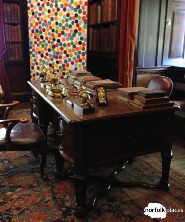 desk at Houghton Hall
