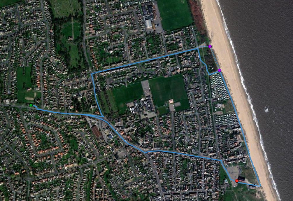 Caister-on-Sea-walk-map-NorfolkPlaces