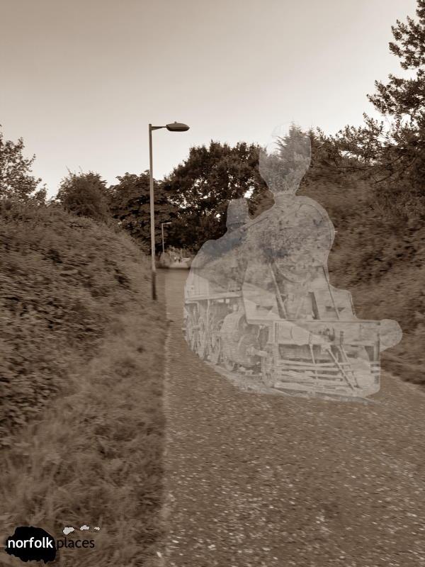 The Lakenham Way - ooh look a train.